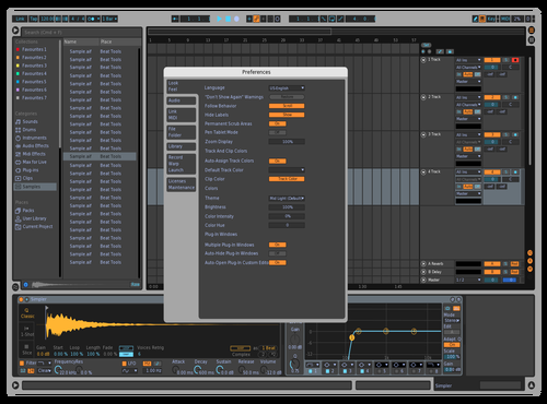 Technico 04 Theme for Ableton 10 by IDGI