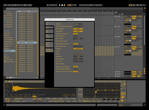GOLD GANG Theme for Ableton 10 by Aaron