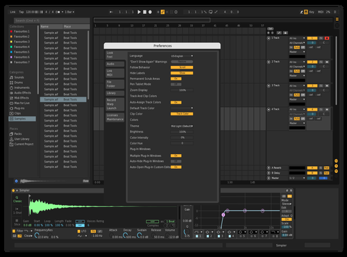 Darker than normal Theme for Ableton 10 by spacebar