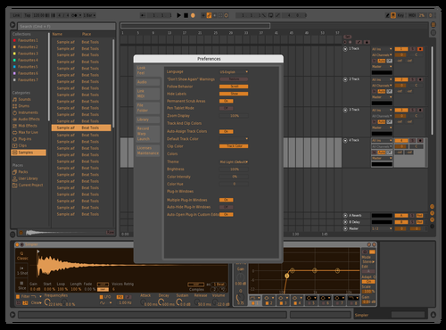 Ambra BL Theme for Ableton 10 by Ciro Sasso