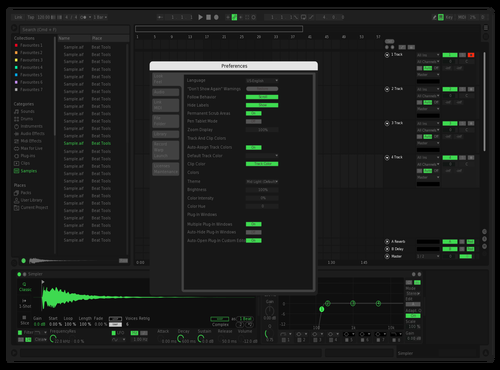 SpotifyUI (Green Chosen) Theme for Ableton 10 by Super Ghost