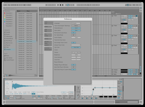 Tim's Theme Theme for Ableton 10 by Timothy West