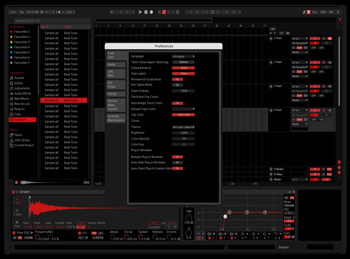 MSI RED Theme for Ableton 10