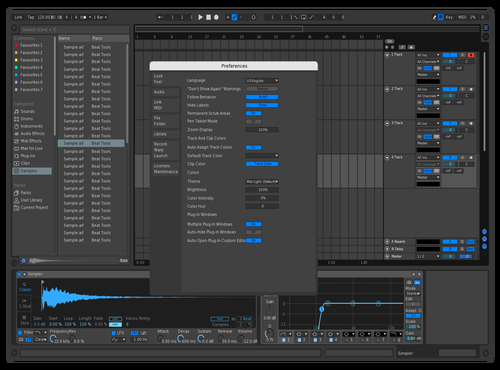 Dark Blue Theme for Ableton 10 by David