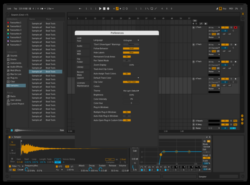 Calm Theme for Ableton 10 by rombie