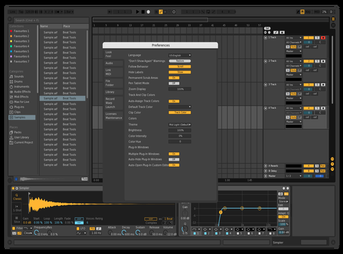 Test Theme for Ableton 10 by Steven Grobman