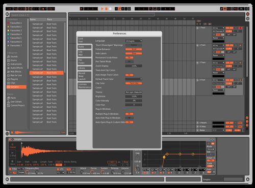 Machine Style(Orange) Theme for Ableton 10 by 許凱軒