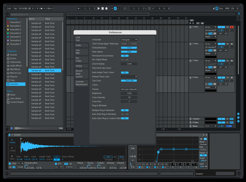 Blue automation Theme for Ableton 10 by Matex1