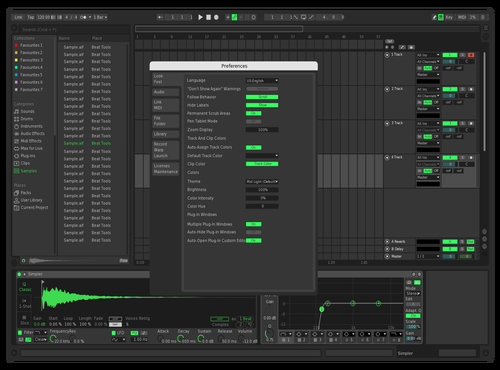Spotify Lite Theme for Ableton 10 by Frank
