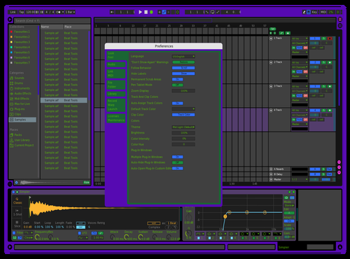 Purpler Theme for Ableton 10 by Kevin