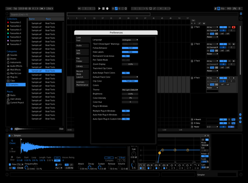 Black Blue Theme for Ableton 10 by Elton Memishaj
