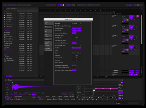 PurplePyramids Theme for Ableton 10 by Whokeemy