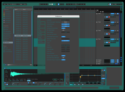 DARK BULE Theme for Ableton 10 by April