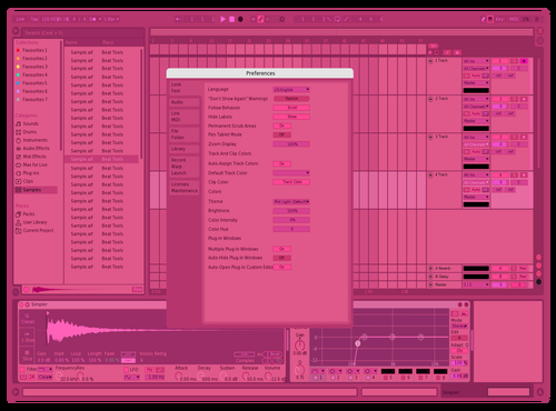 Ultra Pink Theme for Ableton 10 by Michael