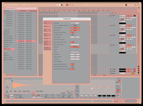 RoseGold clean Theme for Ableton 10 by monzai1