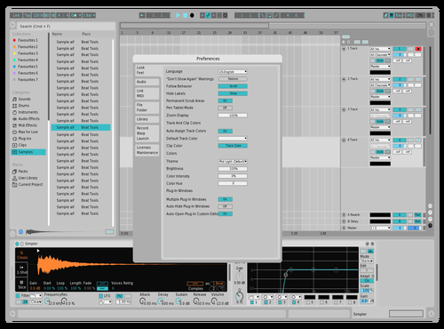 FASTER LIGHT Theme for Ableton 10 by Leocel
