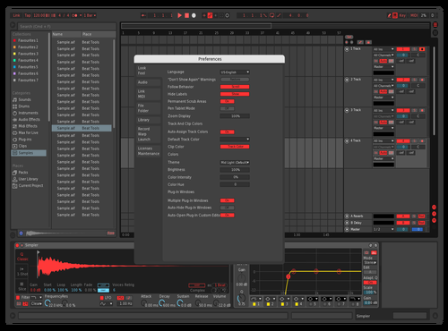 Crazyred Theme for Ableton 10 by BlazeS