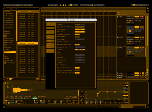 Old Computer Yellow Theme for Ableton 10 by Jack