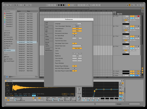 Mid Light X Theme for Ableton 10 by Nostrap