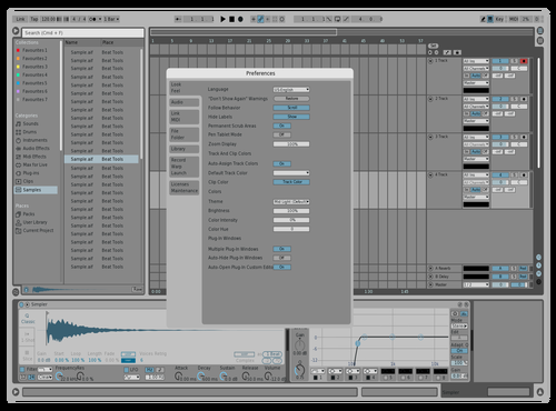 Mid Light Navy Theme for Ableton 10 by riley