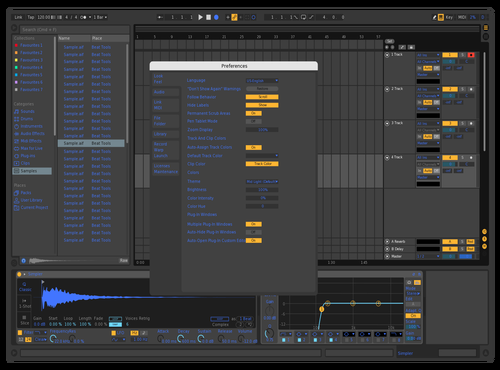 Blue Browser Theme for Ableton 10 by Paul