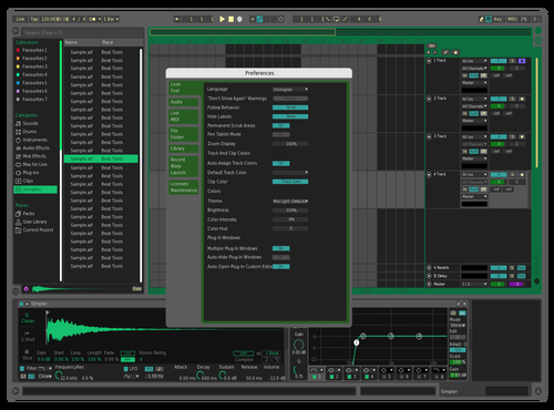 Mint Citrus Theme for Ableton 10 by Neil