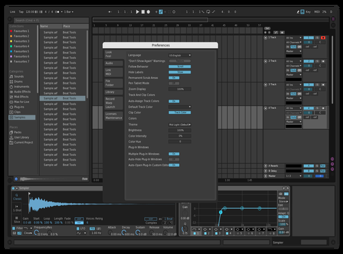 Low contrast dark Theme for Ableton 10 by elljud