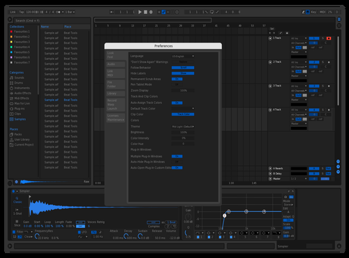 Blue Theme for Ableton 10 by tom
