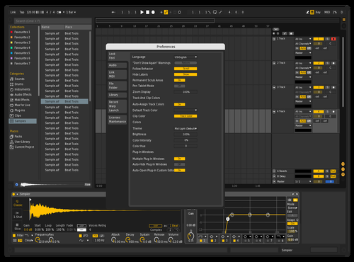 Black & Yellow Coolish Theme for Ableton 10 by ChORIS