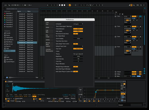 Orangey Theme for Ableton 10 by Not Reaver alt