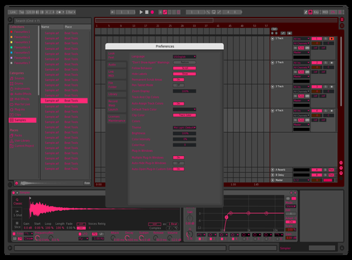 Pink Theme for Ableton 10 by MynameisHii