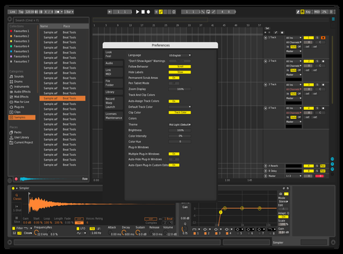 Sweet Big Theme for Ableton 10 by Klazer
