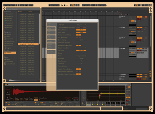 Yellow And Red Theme for Ableton 10 by Keith Meldrum