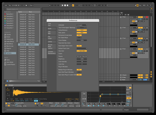 Browser Edit Theme for Ableton 10 by JFreeman
