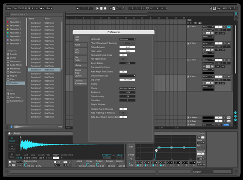 Blue Nova Reaver Theme for Ableton 10 by Reaver