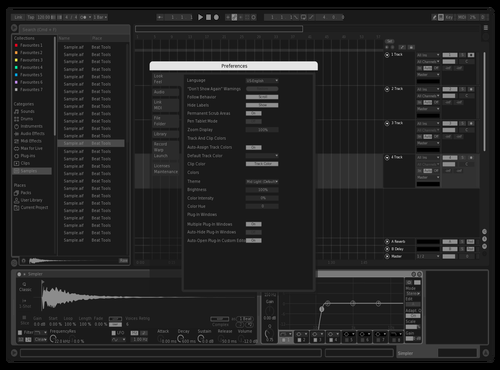 BLACK. Theme for Ableton 10 by Evan Ryder