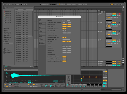 Output Dark Hiden text 3 Theme for Ableton 10 by studiopolyphonic