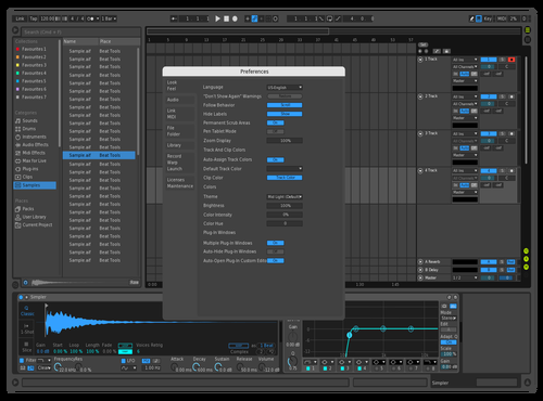 Dark/blue Theme for Ableton 10 by Jay Hughes