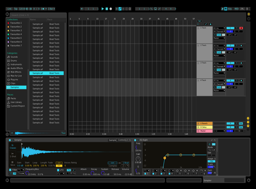 Black And Blue Theme for Ableton 10 by giuseppe