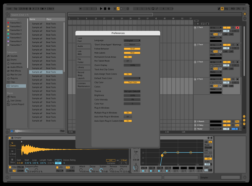 Calm Dark Theme for Ableton 10 by BESA