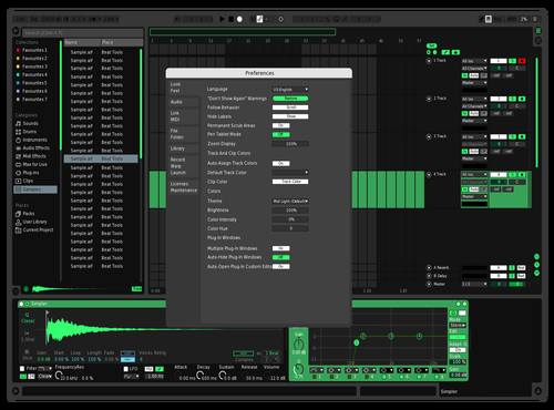 Mint green Theme for Ableton 10 by Hugucci