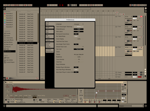 New tan Theme for Ableton 10 by Fernando Ponce