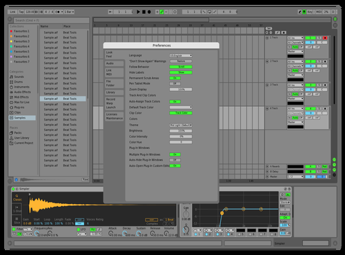 Green Theme for Ableton 10 by Diku musical