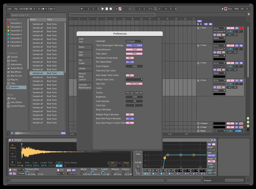 Mid Dark Yellow Theme for Ableton 10 by Dean