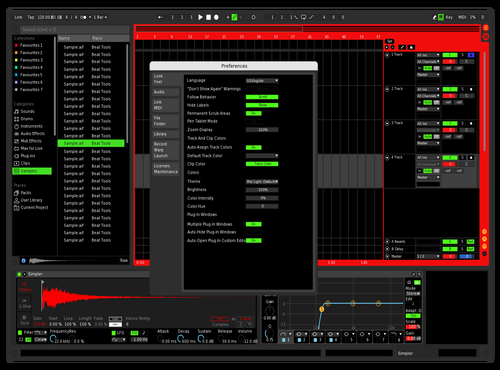 DARKRED Theme for Ableton 10 by Sai