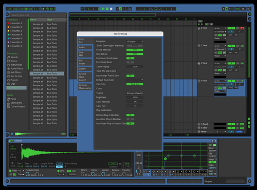 Simple Blue Theme for Ableton 10 by Paul Matthew