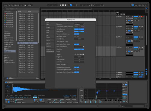 Darkblueshadows Theme for Ableton 10 by Krow808