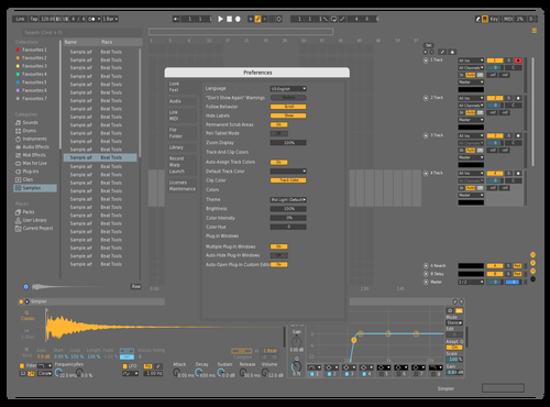 Mid Dark Theme for Ableton 10 by Axnourx
