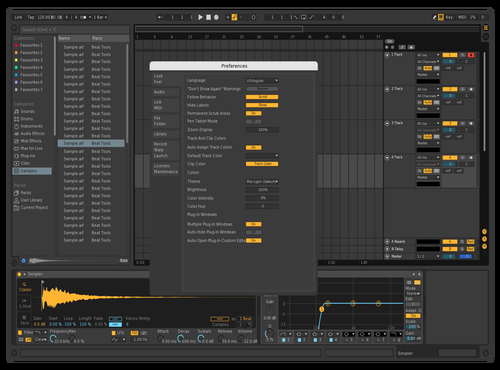 A little darker Theme for Ableton 10 by Nicolai Valenta
