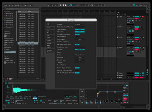 PinkyBlue Theme for Ableton 10 by ALEXIS URQUIZA
